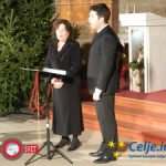 Tradicionalni božični koncert Društva ljubiteljev umetnosti Celje je napolnil cerkev sv. Danijela (video)