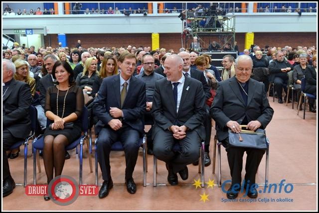 Dogodka so se udeležili številni najvišji predstavniki politike v Sloveniji.