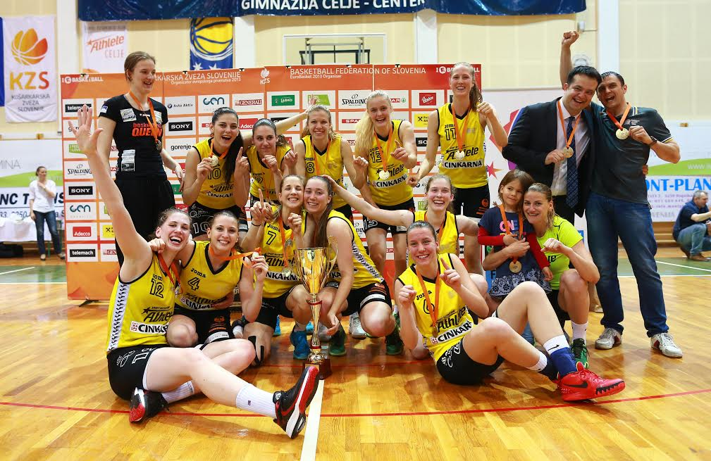 ŽKK Athlete Celje - državne prvakinje 2014/2015. (Vir: Athlete Celje)