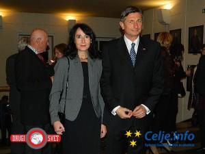 Proslave sta se udeležila tudi predsednik RS Borut Pahor in njegova partnerica Tanja Pečar