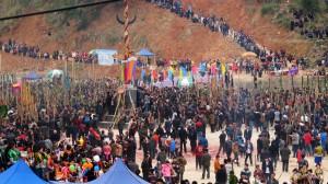 Lusheng festival Miao manjšine, predel Guangxija