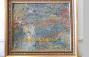 Umetniško delo Gozd jeseni Riharda Jakopiča je na dražbi požel največ zanimanja.