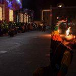 Anke Piromanke plesale z ognjem na celjskem Krekovem trgu