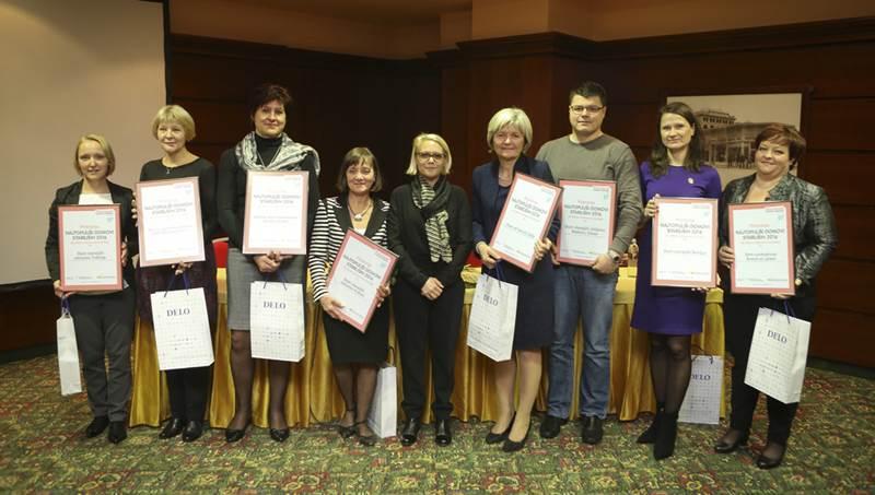Nagrajenci časopisa Delo - direktorji domov za starejše.