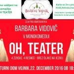 Vabimo na monokomedijo Oh, teater v Vojnik – vstopnice pol ceneje