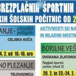 Program športnih aktivnosti v Celju v času zimskih šolskih počitnic 2017