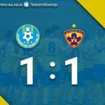 Celjani v štajerskem derbiju z igralcem manj obranili točko proti Mariboru