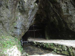 Jama Pekel leži dobre 4 km severno od Šempetra.
