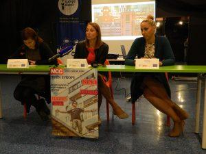 Sonja Majcen, Tina Rosina Košir in Katja Kolenc so predstavile Teden Evrope ter Filmski teden Evrope
