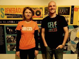 Avtorja razstave Jeans generacija: Urška Ženko in Sebastjan Weber