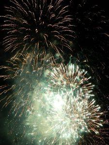 Večerno nebo je razsvetlil tudi veličasten ognjemet.