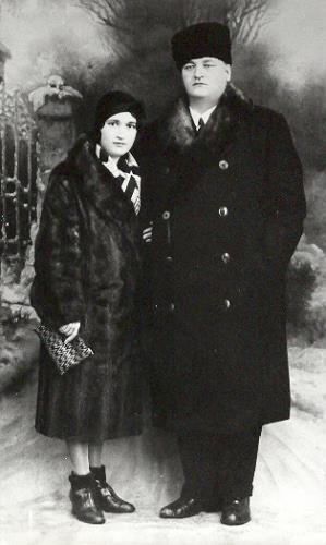 Anton Novačan s soprogo