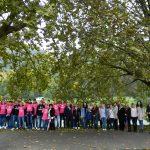 Rožnati oktober ob Savinji: Pletenine na drevesih v znamenje osveščanja o raku dojke