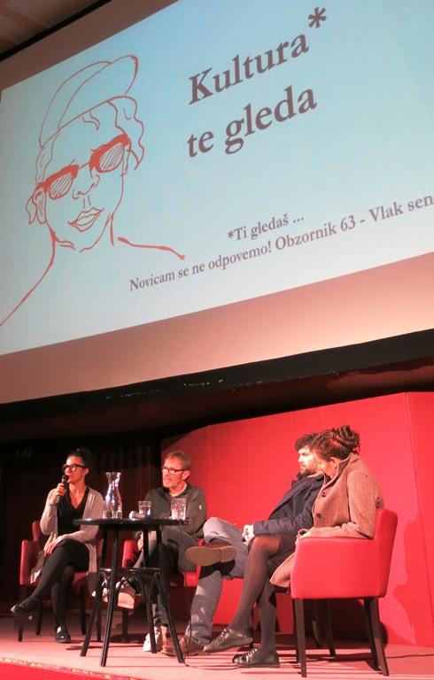 Z leve: Andreja Hribernik, Andrej Šprah, Ciril Oberstar in Nika Autor. Foto: Samo Seničar.
