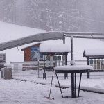 Sneg pobelil Celjsko kočo