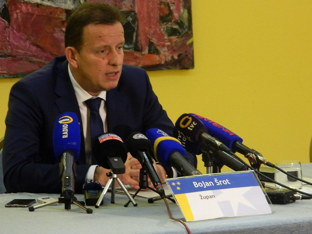Bojan Šrot je na novinarski konferenci predstavil nekatere načrtovane aktivnosti občine v volilnem letu
