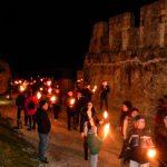 Tradicionalni božični pohod z baklami na Stari grad Celje 2017 (foto, video)