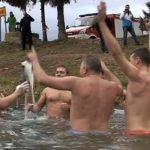 Novoletna rečna kopel tudi med Žalčani
