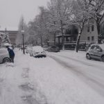 Snežne razmere povzročale največ preglavic na cestah (foto)