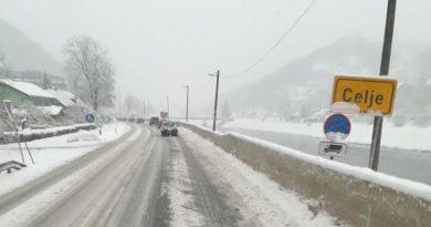 zimske razmere sneg celje