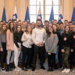 Dijaki Šolskega centra Celje na obisku v predsedniški palači