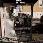 Na Kersnikovi zgorela garaža (foto), dve helikopterski posredovanji