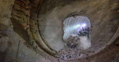 Preboj zračnega jaška v Premogovniku Velenje