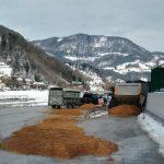 Več ton razsutih tropin v Laškem (foto), težave z vodo in snegom
