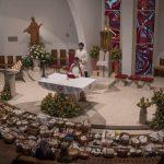 Velika sobota v Celju 2018: blagoslov jedil pri Sv. Danijelu, Sv. Jožefu in Sv. Duhu (foto, video)