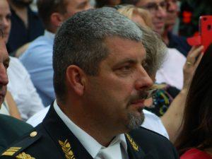 Osrednji govornik podpolkovnik Tomaž Radoševič.