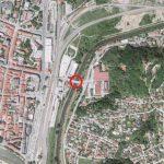 Sobotna zapora voglajnskega mostu na Teharski zaradi preizkusa protipoplavnih zagatnic