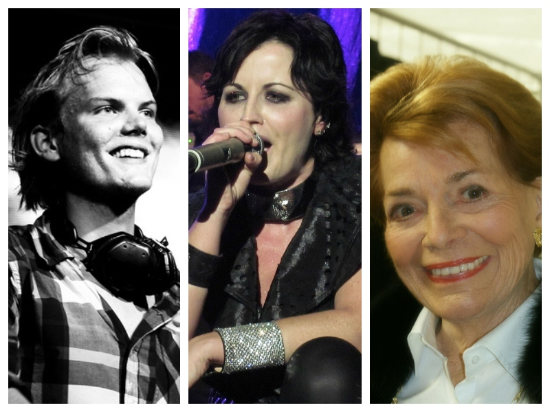Avicii, Dolores Mary Eileen O'Riordan in Lys Assia.