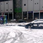Celje prvič letos pod snežno odejo; kakšne so napovedi za naslednje dni (foto)