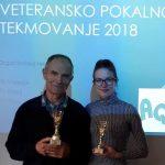 Goršič in Košak s pokaloma za skupno 1. in 2. mesto med veterani