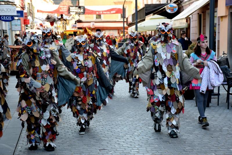 Sovice so med skupinskimi maskami najbolj prepričale pustno komisijo.