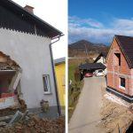 Nesrečni družini s pomočjo donacij zgradili novo hišo (foto)