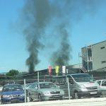 Požar in eksplozija na Mariborski cesti v Celju (foto, video)