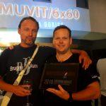 Celjska ekipa med nagrajenci 8. slovenskega filmskega maratona Muvit