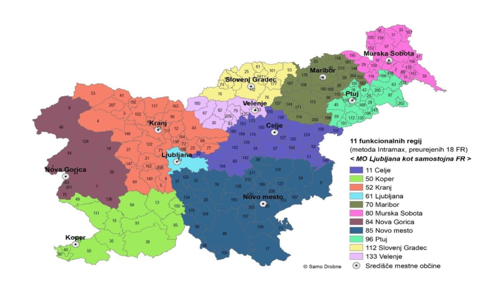 Delitev Slovenije na 11 pokrajin (foto: Samo Drobne)