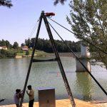 Šmartinsko jezero z wake vlečnico