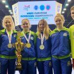 Hyong z evropsko prvakinjo in dvema podprvakinjama