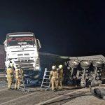 Zaradi hujše nesreče zaprta avtocesta pri počivališču Lopata v smeri Maribora (dopolnjeno)