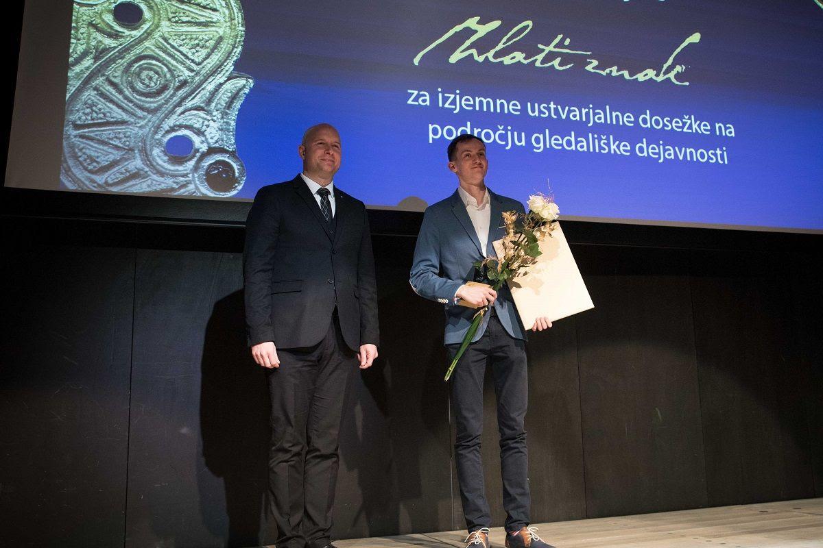 Tomaž Krajnc s plaketo