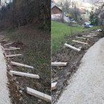 Kmalu nove stopnice na poti mimo Almine hiše na Celjsko kočo