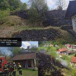 Večji travniški požar, onesnaženje vodotoka
