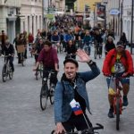 Znova protivladno kolesarjenje v Celju