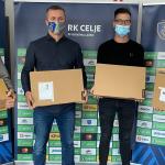 RK Celje Pivovarna Laško je s pomočjo kupcev obraznih mask doniral računalniško opremo
