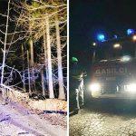 Drevo podrto na telefonskih vodnikih, požari, prevoz obolele osebe