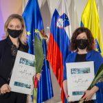 Priznanji Celjske zvezde za najvidnejše dosežke v preteklih dveh letih Maji Hodošček in Manci Ogorevc (foto)