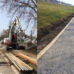 Začetek obnove vodovod na območju pri mostu čez Hudinjo. Obnovljen tudi del pešpoti okoli Šmartinskega jezera